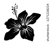 hibiscus flower vector with... | Shutterstock .eps vector #1271228224