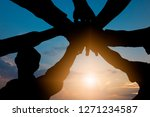 unity and teamwork concept ... | Shutterstock . vector #1271234587