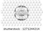 authorize grey badge with... | Shutterstock .eps vector #1271244214