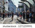 gent  belgium   oct 6  2018....   Shutterstock . vector #1271259991