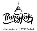 bangkok city lettering logo...   Shutterstock .eps vector #1271284144