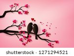 Love Birds Perched On A Branch...