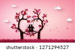 illustration of two enamored... | Shutterstock .eps vector #1271294527
