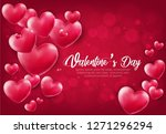 happy valentines day romantic... | Shutterstock .eps vector #1271296294