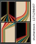 vector set of vintage color... | Shutterstock .eps vector #1271298457