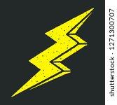 electric lightning bolt with 3d ...   Shutterstock .eps vector #1271300707