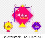 colorful kites decorated on png ... | Shutterstock .eps vector #1271309764