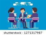 the consultation for solving... | Shutterstock .eps vector #1271317987