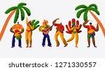 brazil carnival party character ...   Shutterstock .eps vector #1271330557