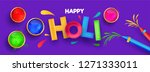 colorful text holi with... | Shutterstock .eps vector #1271333011