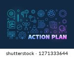 action plan colored outline... | Shutterstock .eps vector #1271333644