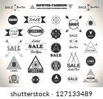 set of hipster flat vintage... | Shutterstock .eps vector #127133489