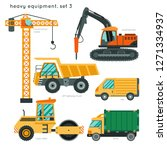 heavy equipment set3 ...   Shutterstock .eps vector #1271334937