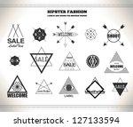 set of hipster vintage line...   Shutterstock .eps vector #127133594