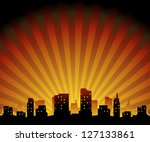 silhouette of a city | Shutterstock .eps vector #127133861