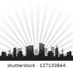 silhouette of a city | Shutterstock .eps vector #127133864