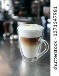 latte macchiato in thermo glass   Shutterstock . vector #1271347981