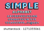 colorful chisel style alphabet... | Shutterstock .eps vector #1271355061