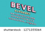 colorful chisel style alphabet... | Shutterstock .eps vector #1271355064