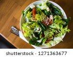 healthy vegetable fresh salad...   Shutterstock . vector #1271363677