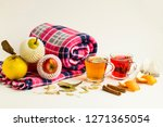 warm healthy teas of herbal and ... | Shutterstock . vector #1271365054