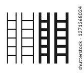 stairs set. vector illustration | Shutterstock .eps vector #1271368024