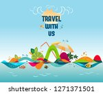 travel with us   banner ... | Shutterstock .eps vector #1271371501