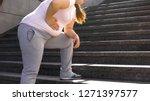 fat girl feels ache in stomach  ... | Shutterstock . vector #1271397577
