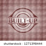 built up red emblem with... | Shutterstock .eps vector #1271398444
