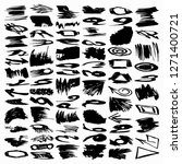 collection of ink strokes brush ... | Shutterstock . vector #1271400721