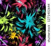 graffiti on a black background...   Shutterstock . vector #1271402644