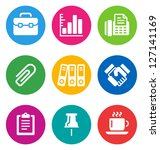 color circular business icons... | Shutterstock .eps vector #127141169