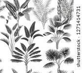 tropical vintage botanical palm ... | Shutterstock .eps vector #1271414731
