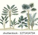 tropical vintage hawaiian palm... | Shutterstock .eps vector #1271414734