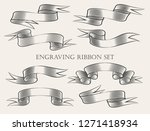set of ribbon drawn in... | Shutterstock . vector #1271418934