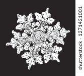 white snowflake isolated on... | Shutterstock .eps vector #1271421001