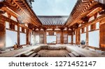 view of korean traditional... | Shutterstock . vector #1271452147