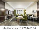 3d rendering luxury and modern... | Shutterstock . vector #1271465104