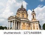 basilica di superga turin in... | Shutterstock . vector #1271468884