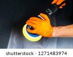 car polish wax worker hands...   Shutterstock . vector #1271483974