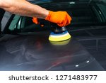 car polish wax worker hands...   Shutterstock . vector #1271483977