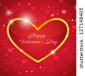 valentine card with place for... | Shutterstock .eps vector #127148405