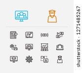 online education icons set....