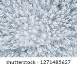 aerial view of a winter snow... | Shutterstock . vector #1271485627