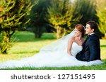 Happy Bride And Groom At A Par...