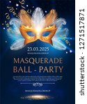 masquerafe flyer template with... | Shutterstock .eps vector #1271517871
