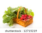 basket with a garden radish | Shutterstock . vector #12715219