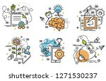 set of outline icons of... | Shutterstock .eps vector #1271530237