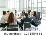 young multiethnic diverse... | Shutterstock . vector #1271554561