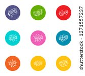 surprise icons set. flat set of ... | Shutterstock . vector #1271557237